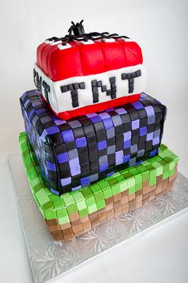 http://www.cremedelacakes.ca - Minecraft Cakes