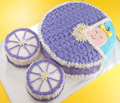 http://www.cremedelacakes.ca - Baby Shower Cakes