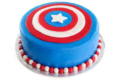http://www.cremedelacakes.ca - Captain America Cake