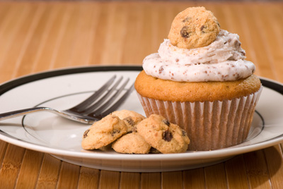 http://www.cremedelacakes.ca - Cookie Dough Cupcakes
