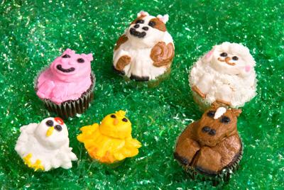 http://www.cremedelacakes.ca - Animal Cupcakes