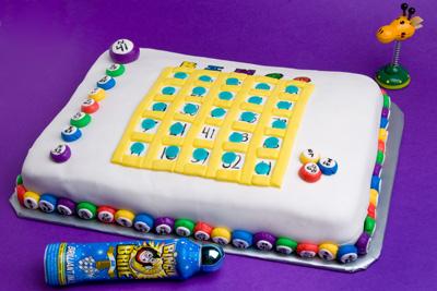 http://www.cremedelacakes.ca - Bingo Board Cake