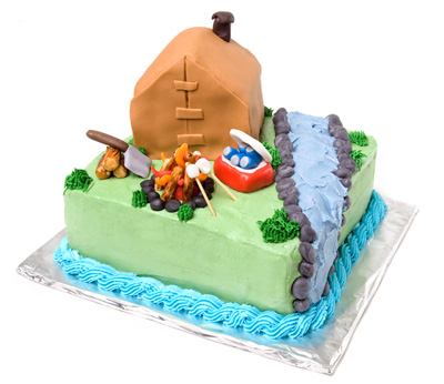 http://www.cremedelacakes.ca - Camping Cake