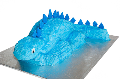 http://www.cremedelacakes.ca - Sculpted Dinosaur