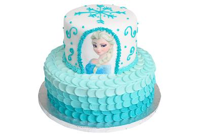 http://www.cremedelacakes.ca - Frozen - Elsa Cake
