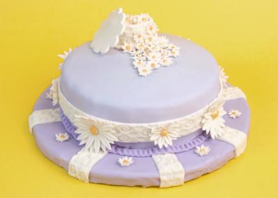 http://www.cremedelacakes.ca - Purple Floral