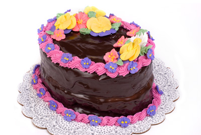 http://www.cremedelacakes.ca - Oval Cake (Buttercreme)