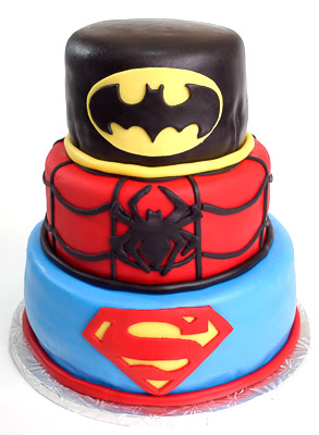 http://www.cremedelacakes.ca - Superhero Mega-Cake