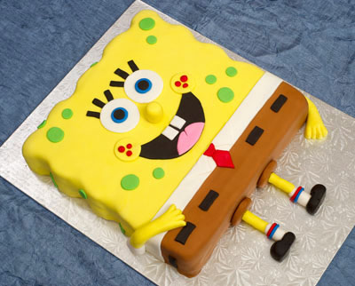 https://www.cremedelacakes.ca - Sponge Bob Square Pants Cake