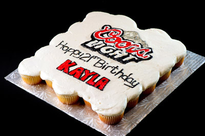 https://www.cremedelacakes.ca - Coors Light Decoarated Cupcakes