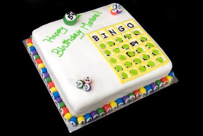 https://www.cremedelacakes.ca - Bingo Board Cake