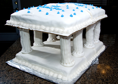 https://www.cremedelacakes.ca - The Greek Parthenon