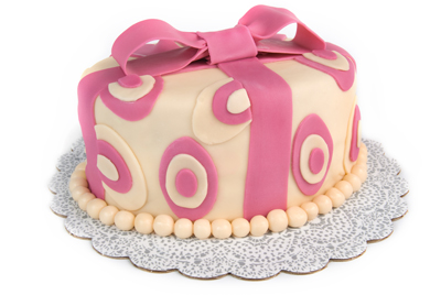 https://www.cremedelacakes.ca - Oval Cake (Fondant)